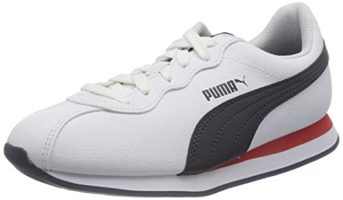 PUMA Turin II, Zapatillas Unisex Adulto, Blanco White/Peacoat/High Risk Red, 37.5 EU