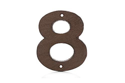Números para Casas de Hierro Fundido 0-9 (8, Marrón)