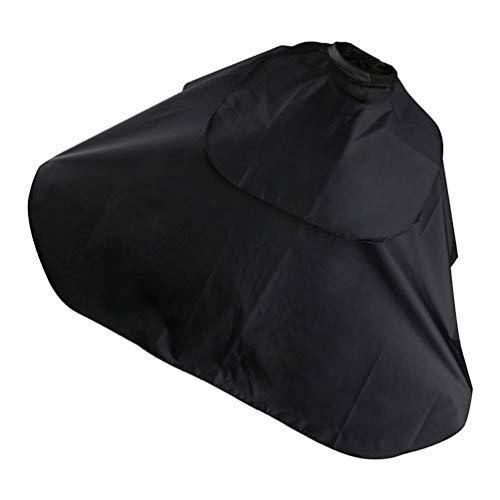 EXCEART Zwart haarkleurmiddel cape kappersmantel kappersmantel kappersmantel kappersschort halsschildomhang