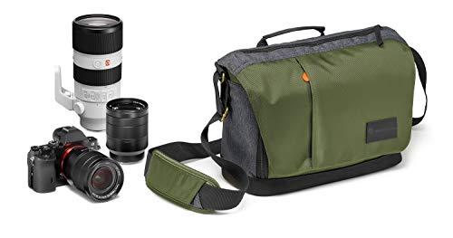 Manfrotto Street Bandolera Verde - Funda (Bandolera, Universal, Canon EOS M5, Fujifilm X-Pro2, Fujifilm X-T1, Fujifilm X-T1 IR, Fujifilm X-T10, Fujifilm X-T2, Compartimento del portátil, Verde)