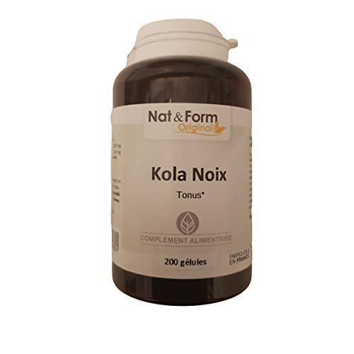 Kola Noix 200 Gélules - Noix De Kola - Nat Et Form - Atlantic Nature