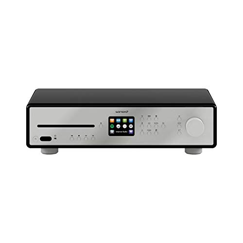sonoro Maestro HiFi-Receiver mit Internetradio (FM, DAB+, CD, aptX Bluetooth, Spotify, Tidal, Amazon, Deezer, Napster) Schwarz