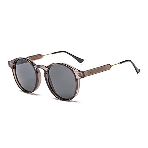 MissLi Gafas De Sol Redondas Retro para Hombre, Mujer, Unisex, Diseño Vintage, Gafas De Sol Pequeñas para Hombre, Gafas De Conducción, Gafas UV400 (Color : 5)