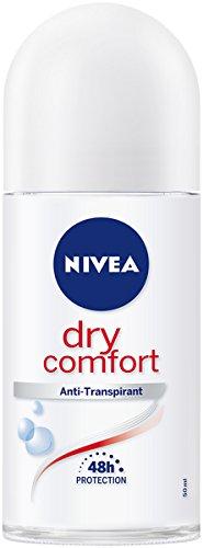 NIVEA Dry Comfort Deo Roll On im 6er Pack (6 x 50 ml), Antitranspirant Stick für jede Alltagssituation, Deodorant mit 48h Schutz