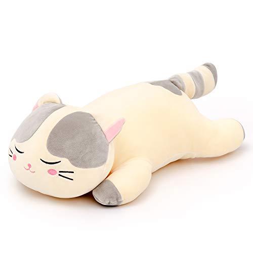 Lazada Felpa Gato Muy Suave Almohada De Abrazos Animal De Peluche Gatito De Juguete Gris 45cm