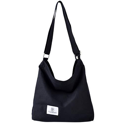 Bolsos Mujer,Fanspack Bolso Bandolera Mujer de Lona Bolsos de Mujer Bolso Shopper Hobo Bag Bolso Shopper Multifuncional