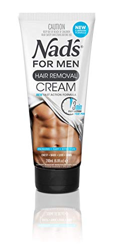 Nad's for Men Hair Removal Cream - Painless Hair Removal For Men - Soothing Depilatory Cream For Unwanted Coarse Male Body Hair, 6.8 Oz