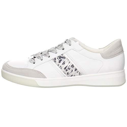 ara Damen ROM 1234471 Sneaker, Sasso/Weiss, Silber/Nebbia 06), 37 EU(4 UK)