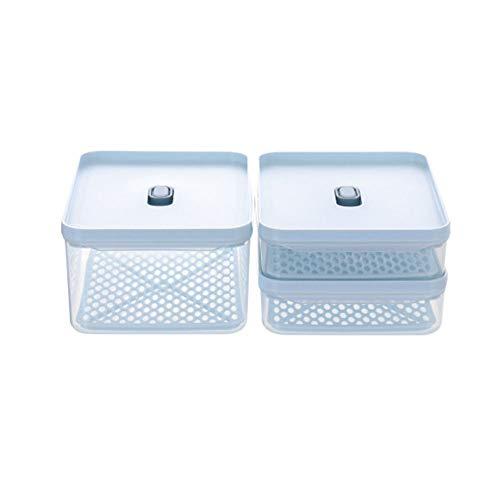 CROWNXZQ Tapa ventilada Almacenamiento de Alimentos, Conjunto de contenedores de preparación de Comida de plástico, refrigerador de Caja, congelador de Fresco Fresco Sellado, Cocina cómoda Mango