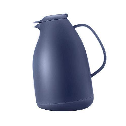 Kyman Thermosthermoskanne.Glaseinsatz.Kessel nach Hause Schlafsaal mit großer Kapazität (1,5 Liter, schnelle Saugkopf geschlossen, weicher Griff, Edelstahl) -grün