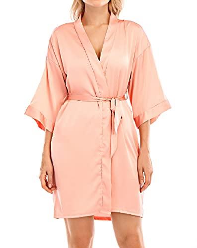 Yuson Girl Kimono de mujer pijama vestido de novia con cuello en...