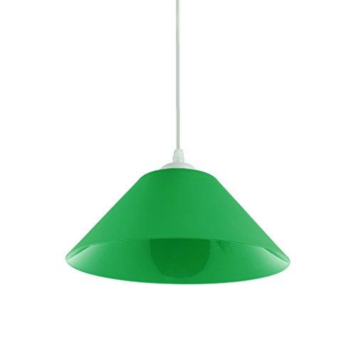 Vintage Pendelleuchte Schatten Industrie PVC Lampe Hängende Lampenschirme Für Loft Bar Cafe Schlafzimmer Office Home Dekorative Beleuchtung - Dunkelgrün