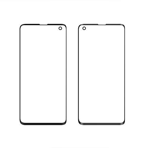 Front Glass Lens Voor Samsung S10 LCD display buitenste touch panel scherm glas vervanging (zwart)