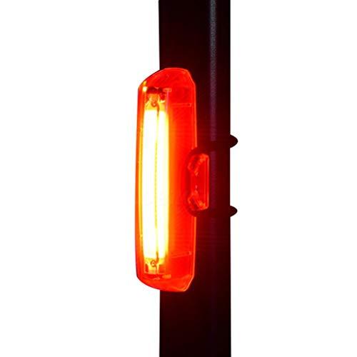 Ububiko Lúmenes Luz Trasera Bicicleta Potente LED, Luz Bicicleta Trasera Recargable USB de Alto Brillo con 6 Modos de iluminación Luz de Advertencia Nocturna Impermeable