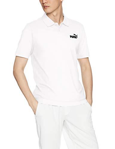 Puma Herren ESS Pique Polo T-shirt, Medium Gray Heather_Cat, L