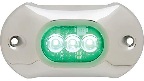 Attwood 66uw03g-7 lumières LED étanche Armor, 1350 lm, couleur vert