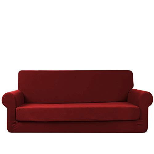 Sofá Funda para Muebles 1/2/3/4 plazas, Lavable a máquina, elástica Protector de sofá para Mascotas, antiácaros y Antiarrugas
