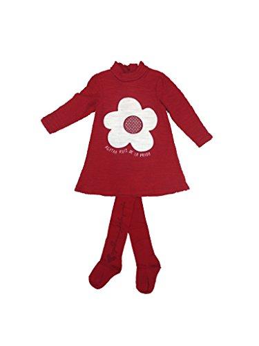 Agatha Ruiz de la Prada - Vestido Flor, Bebe niña, Color: Rojo, Talla: 36 Meses