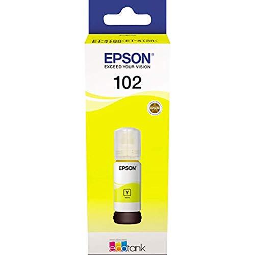 Epson Original 6644 EcoTank Tintenflasche, ET-2700 ET-2750 ET-3700 ET-3750 ET-4750, gelb