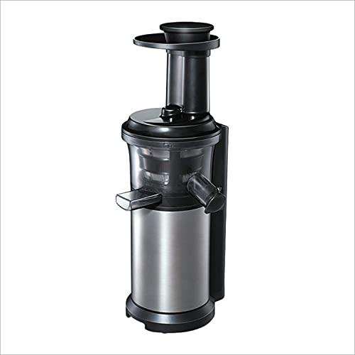 LITINGT Exprimidor Exprimidor, 200 W 40 RPM Exprimidor Lento de masticación de Acero Inoxidable, Exprimidor Compacto de Frutas y Verduras Máquina exprimidora en frío