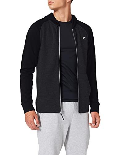 Nike Herren M Nsw Optic Hoodie Fz Full-Zip Optic Kapuzenjacke, Black/Heather/Black, S