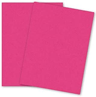 PaperPapers Popular Colors 8.5X11 Econo Letter size 65C Lightweight Cardstock Paper - Pink Razzle Berry,25-PK