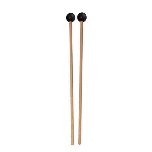 Artibetter 1 paire de baguettes de tambour petites baguettes de tambour en caoutchouc classiques pour les étudiants adultes accessoires d'instruments de musique