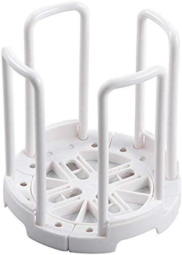 FEE-ZC Praktisch Praktisches Regal Schüssel Wäscheständer Geschirrtrockner Halter Küchenabtropfer Teller Topflappenhalter Organizer 2-teilig, weiß