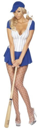 Sexy Baseballerin Kostüm Baseball Gr. L