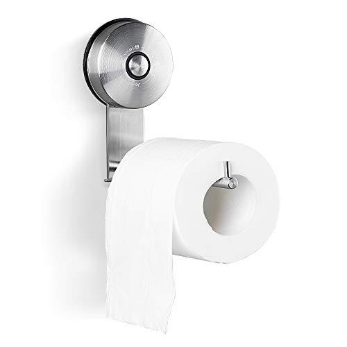 Vakuum Saugnapf Toilettenpapierhalter – JOMOLA Badezimmer Papierspender aus gebürstetem Nickel