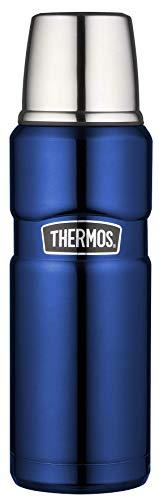 THERMOS 4003.255.047 Thermosflasche Stainless King, Edelstahl Royal Blue 0,47 l, Drehverschluss, 12 Stunden heiß, 24 Stunden kalt, BPA-Free