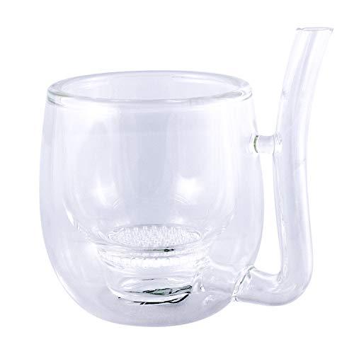 MateGlass para Yerba Mate | Calabaza y Bombilla en uno! | Vidrio de borosilicato Diseño Elegante y Práctico | 150 ml de Capacidad | Vaso para Yerba Mate