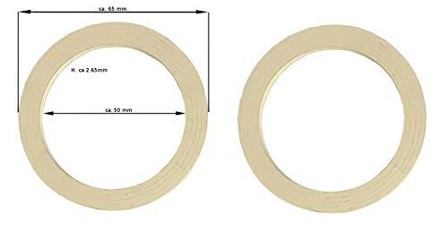 Ersatzdichtung für Espressokocher - 3/4 TASSEN 2 x Dichtungsring