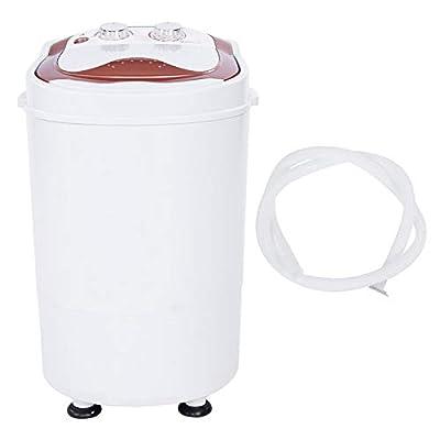 Zerone Portable Washing Machine, 220V Mini Portable Washing Machine Timing Setting Full-Automatic Laundry Washer Spinner UK Plug, 21.26 x 13.78 x 13.39 in