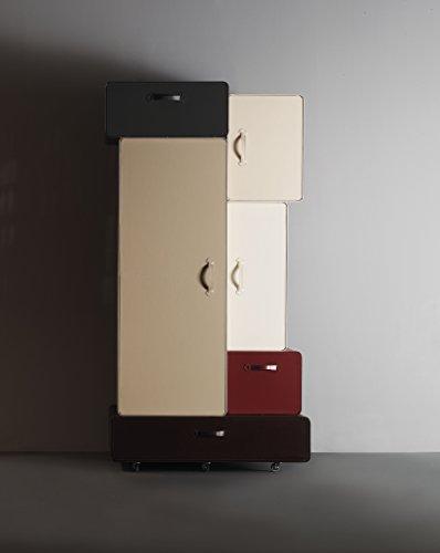 L'Aquila Design Arredamenti Casamania - Mueble armario Valises con estructura de cuero degradado beige