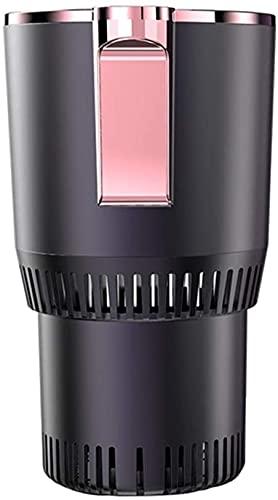 X&J Termostato de café para coche, taza caliente y fría, eléctrico, 12 V, acero inoxidable, con base extraíble, color negro (morado)