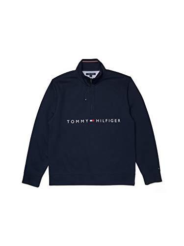 Tommy Hilfiger Herren ADP Will QZ Mock Pullover, Sky Captain-pt, Medium