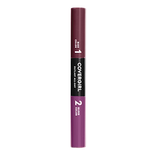 COVERGIRL Outlast All-Day Color & Lip Gloss, Deep Burgundy, 0.2 Ounce (packaging may vary)