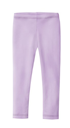 City Threads Girls' Leggings 100% Cotton for School Uniform Sports Coverage or Play Perfect for Sensitive Skin or SPD Sensory Friendly Clothing, Lavender, 5