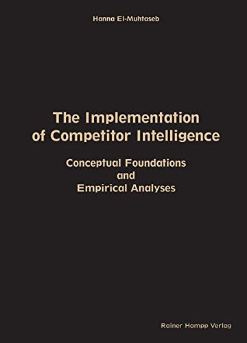 The Implementation of Competitor Intelligence: Conceptual Foundations and Empirical Analyses