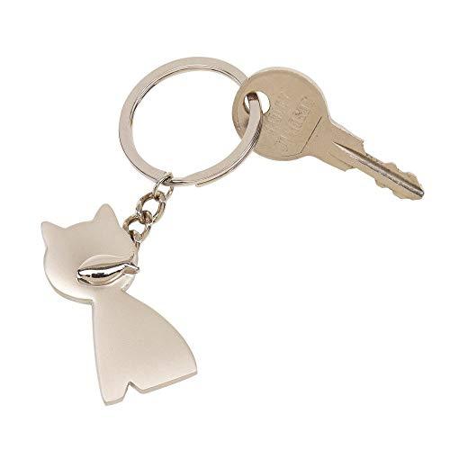 Katze mit Fisch Schlüsselanhänger Metall in Geschenkbox | Geschenk für Männer | Frauen | Damen | Glück | Glücksbringer | Cat | Katzenhalter |