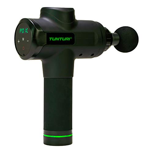 Tunturi Pistola de masaje electrónica para regeneración y circulación sanguínea, con batería
