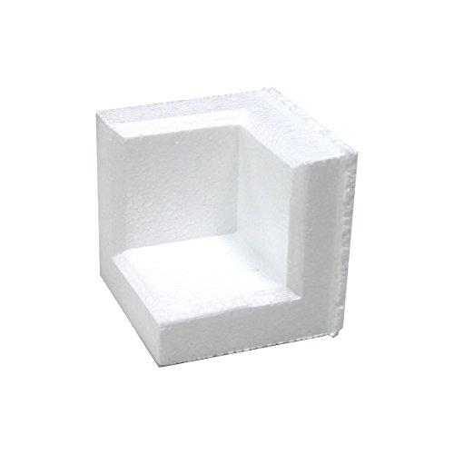 アースダンボール 緩衝材 角あて 発泡スチロール 梱包材 1袋(400個)【80×80×厚み20mm】【1036】