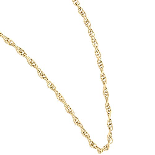 Jollys Jewellers Women's 9Carat Yellow Gold 18.25' Prince of Wales Chain/Necklace (3mm Wide) | One of A Kind Ladies Necklace