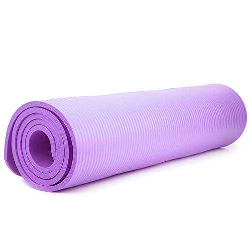 Semiter Almohadilla de Rodillas de Yoga Antideslizante multifunción, cojín de Yoga, Esterilla de Almohadilla de Yoga de 183x61x1 cm, Abdominales, Actividades al Aire(Purple 183 * 61 * 1)