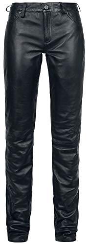 Gipsy Ggwhitley LNV Frauen Lederhose schwarz XS 100% Leder Basics
