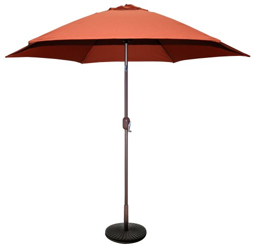 TropiShade 9 ft Bronze Aluminum Patio Umbrella with Rust Polyester...