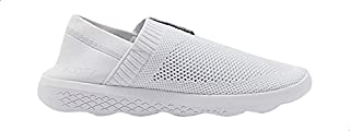 Anta Ribbed Trim PerForated Low-Top Slip-On Sneakers For Women - White, 38.5 EU