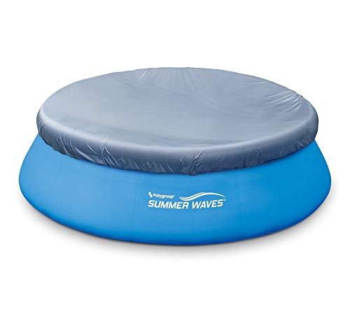 Summer Waves PVC-Abdeckplane für runde Quick-up-Pool blau Ø 305 cm Größenauswahl Ø366 cm