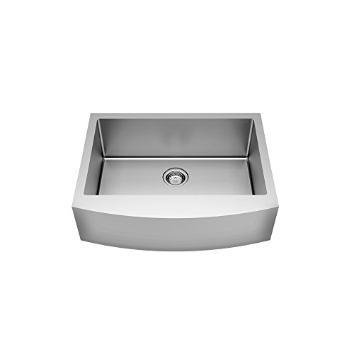 American Standard 18SB.9332200A.075 Pekoe 33X22-Inch Apron Sink With Grid And Drain, Stainless Steel